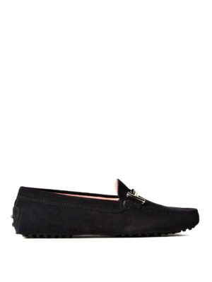 Tod'S: Loafers & Slippers - Gommino Double T suede loafers
