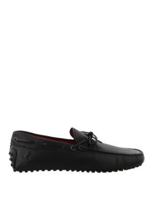 TOD'S: Mocassini e slippers - Mocassini neri Gommino-Ferrari