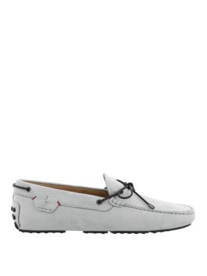 TOD'S: Mocassini e slippers - Mocassini azzurri Gommino-Ferrari