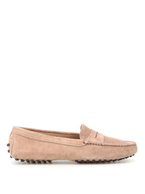 Tod'S: Loafers & Slippers - Gommino ginger suede driving shoes