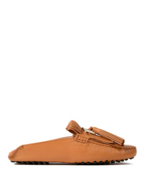 Tod'S: Loafers & Slippers - Gommino light brown slippers