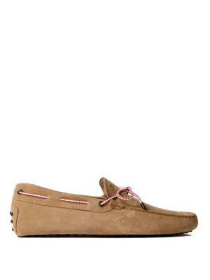 Tod'S: Loafers & Slippers - Gommino light brown suede loafers