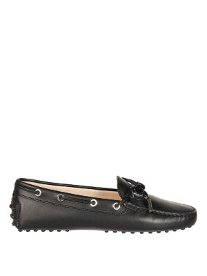 Tod'S: Loafers & Slippers - Gommino logo black leather loafers