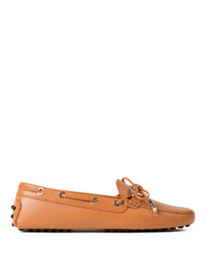 Tod'S: Loafers & Slippers - Gommino logo leather loafers