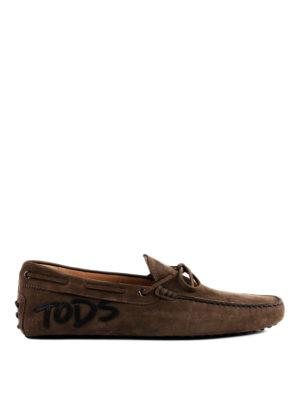 TOD'S: Mocassini e slippers - Mocassini Gommino con patch logo in pelle