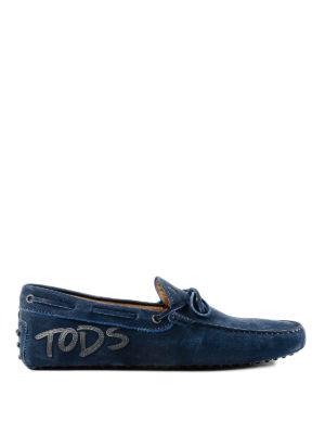 TOD'S: Mocassini e slippers - Mocassini Gommino in pelle con patch logo