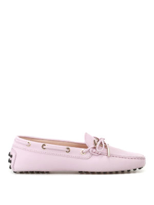 Tod'S: Loafers & Slippers - Gommino logo pink leather loafers