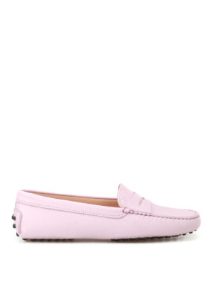 Tod'S: Loafers & Slippers - Gommino pink leather loafers