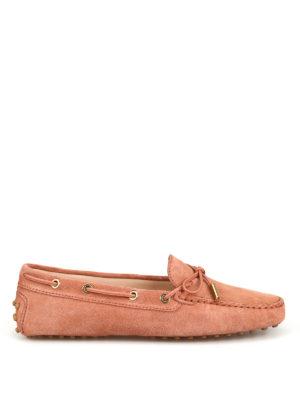 0017834daf TOD'S: Mocassini e slippers - Mocassini Gommino in pelle scamosciata rosa