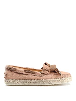 8840a31037 TOD'S: Mocassini e slippers - Mocassini Gommino in pelle rosa