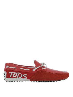 TOD'S: Mocassini e slippers - Mocassini Gommino rossi e bianchi