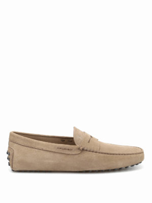 Tod'S: Loafers & Slippers - Gommino suede driving loafers