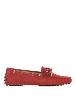 Tod'S: Loafers & Slippers - Gommino suede loafers