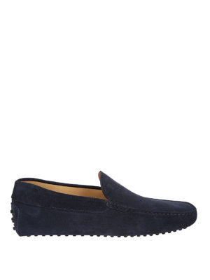 Tod'S: Loafers & Slippers - Gommino suede logo detailed loafers