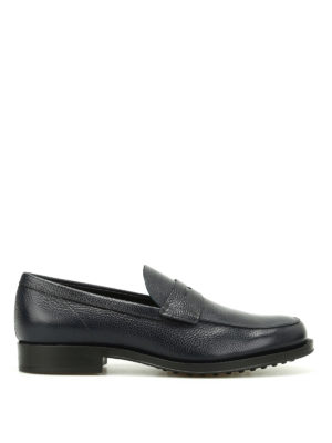 Tod'S: Loafers & Slippers - Grainy leather classic loafers