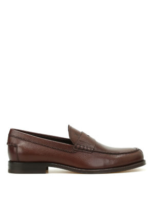 Tod'S: Loafers & Slippers - Hammered leather classic loafers