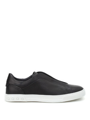 Tod'S: Loafers & Slippers - Hammered leather slip-ons