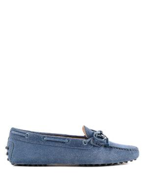 TOD'S: Mocassini e slippers - Mocassini Heaven in camoscio con logo