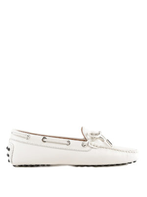TOD'S: Mocassini e slippers - Mocassini Heaven in pelle con logo e fiocco