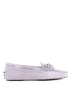 TOD'S: Mocassini e slippers - Mocassini Heaven in camoscio con fiocco