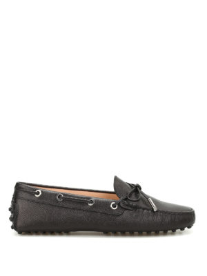 Tod'S: Loafers & Slippers - Heaven grainy leather loafers