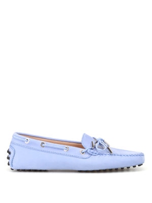 Tod'S: Loafers & Slippers - Heaven light blue nubuck loafers