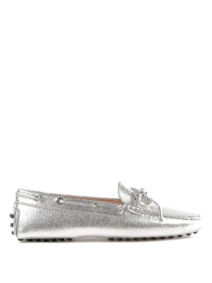 TOD'S: Mocassini e slippers - Mocassini Heaven in pelle con fiocco e logo