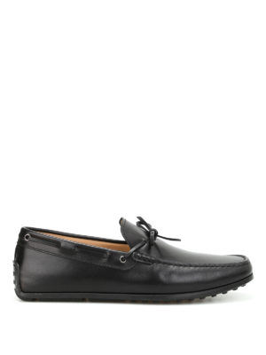 Tod'S: Loafers & Slippers - Lace detail leather loafers