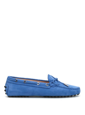 Tod'S: Loafers & Slippers - Lace detail nubuck loafers