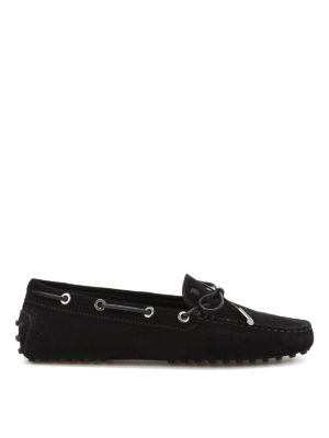 Tod'S: Loafers & Slippers - Lace detail suede loafers