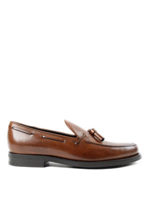 Tod'S: Loafers & Slippers - Laces detailed leather loafers