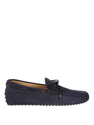 Tod'S: Loafers & Slippers - Laces detailed nubuck loafers