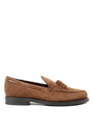 Tod'S: Loafers & Slippers - Laces detailed suede loafers