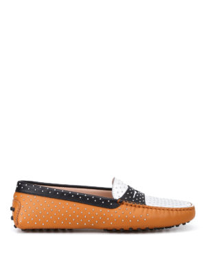 Tod'S: Loafers & Slippers - Leather loafers with micro studs