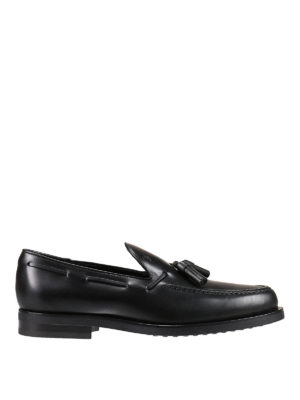 Tod'S: Loafers & Slippers - Leather loafers with tassels