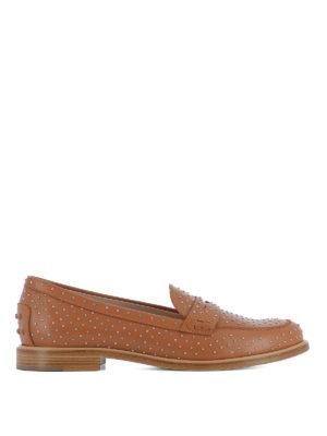 TOD'S: Mocassini e slippers - Mocassini in pelle con borchie