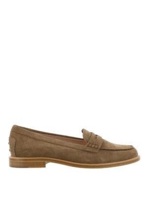 TOD'S: Mocassini e slippers - Mocassino in pelle scamosciata