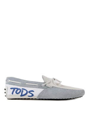 Tod'S: Loafers & Slippers - Logo leather and suede loafers
