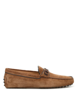 Tod'S: Loafers & Slippers - Macro Clamp Country suede loafers