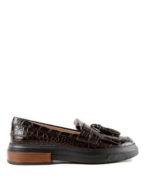 TOD'S: Mocassini e slippers - Mocassini in pelle con maxi suola in gomma