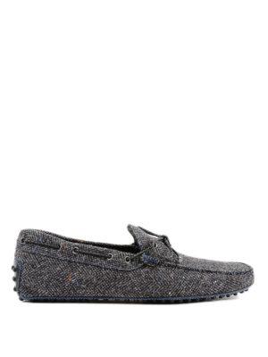 TOD'S: Mocassini e slippers - Mocassini My Colors Tessuto Gommino Check
