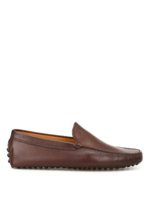 Tod'S: Loafers & Slippers - New Gommini brown leather loafers