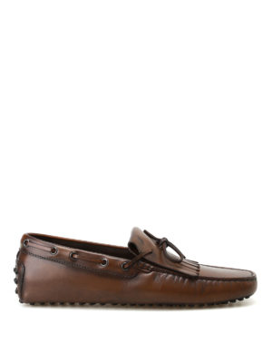 Tod'S: Loafers & Slippers - New Gommini cacao leather loafers