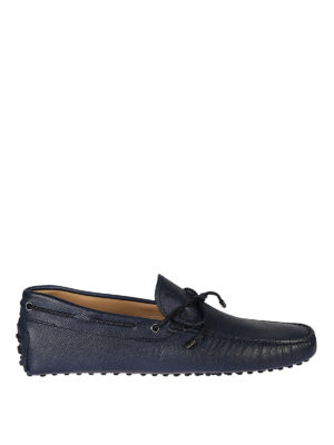 Tod'S: Loafers & Slippers - New Gommini grainy leather loafers
