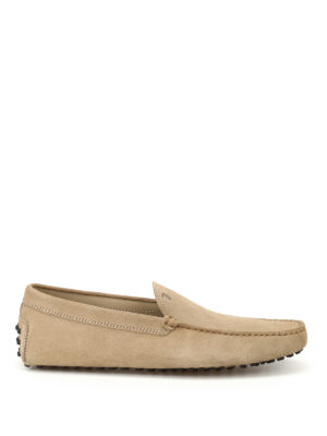 Tod'S: Loafers & Slippers - New Gommini smooth suede loafers