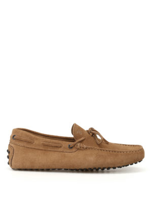 Tod'S: Loafers & Slippers - New Laccetto beaver suede loafers