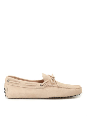 Tod'S: Loafers & Slippers - New Laccetto beige driver shoes