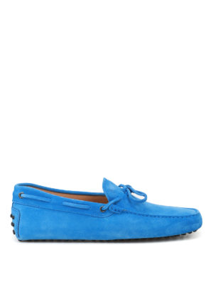 Tod'S: Loafers & Slippers - New Laccetto blue driver shoes