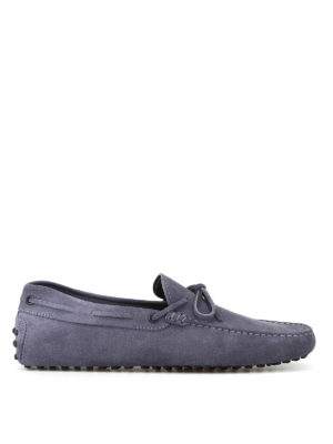 Tod'S: Loafers & Slippers - New Laccetto jeans suede loafers