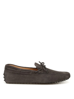 Tod'S: Loafers & Slippers - New Laccetto nubuck driving shoes